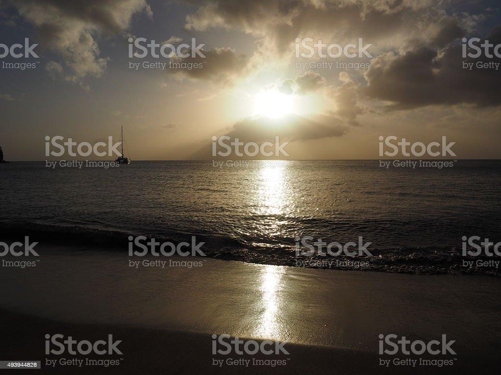 63 au coucher du soleil photo libre de droits
