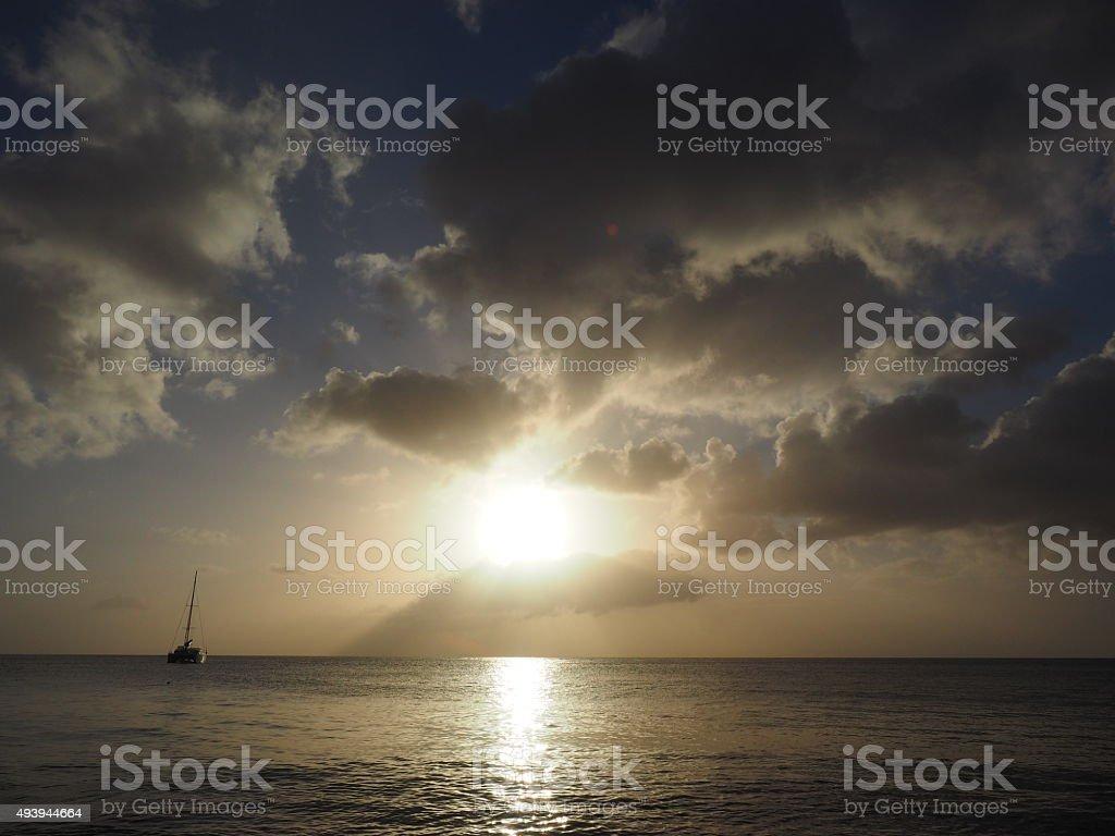 71 au coucher du soleil photo libre de droits