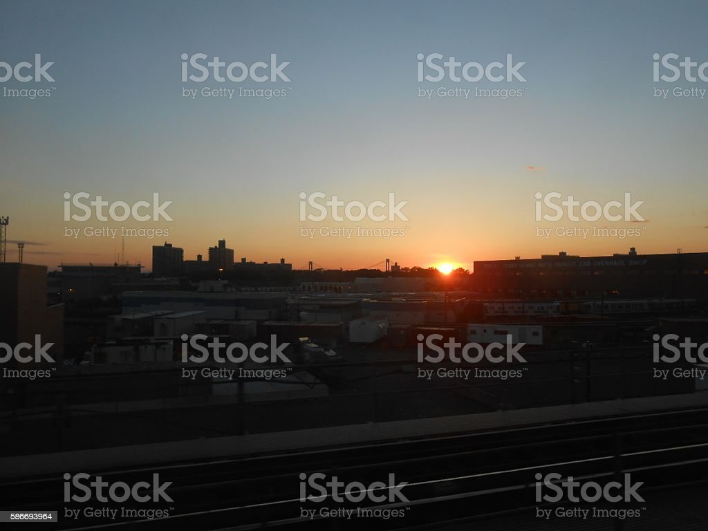 Sunset above Brooklyn. stock photo