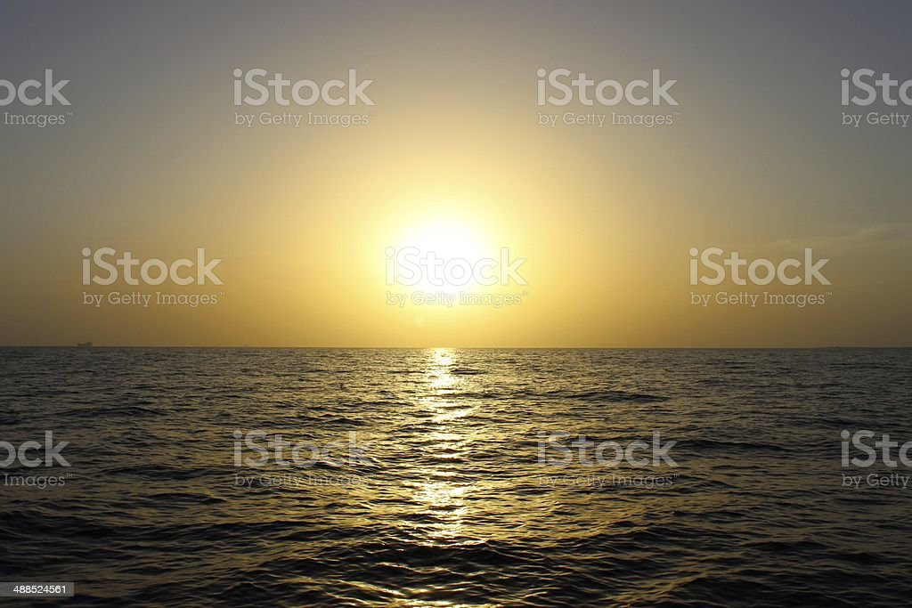 Sunset above the Red Sea royalty-free stock photo