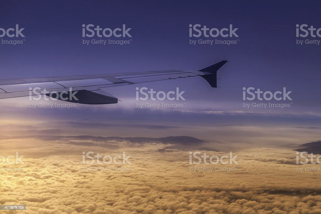 Sunset above the sky royalty-free stock photo