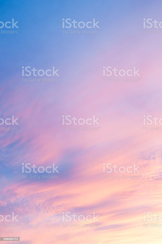 Sunset across New Mexico landscape from Sandia Peak, Albuquerque stock photo