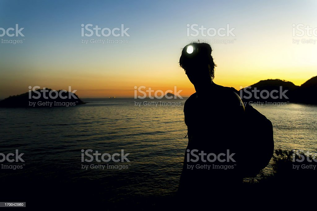 Sunset Adventure at Rio de Janeiro royalty-free stock photo