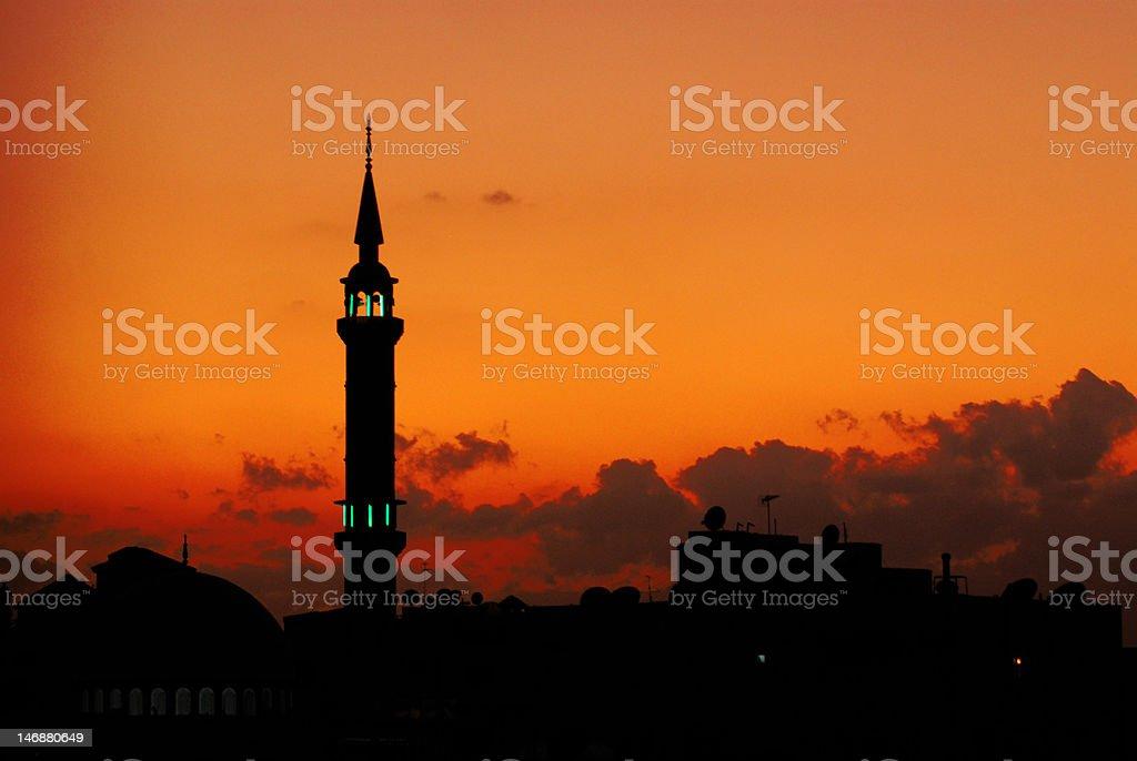 Sunset Amman, Jordan royalty-free stock photo