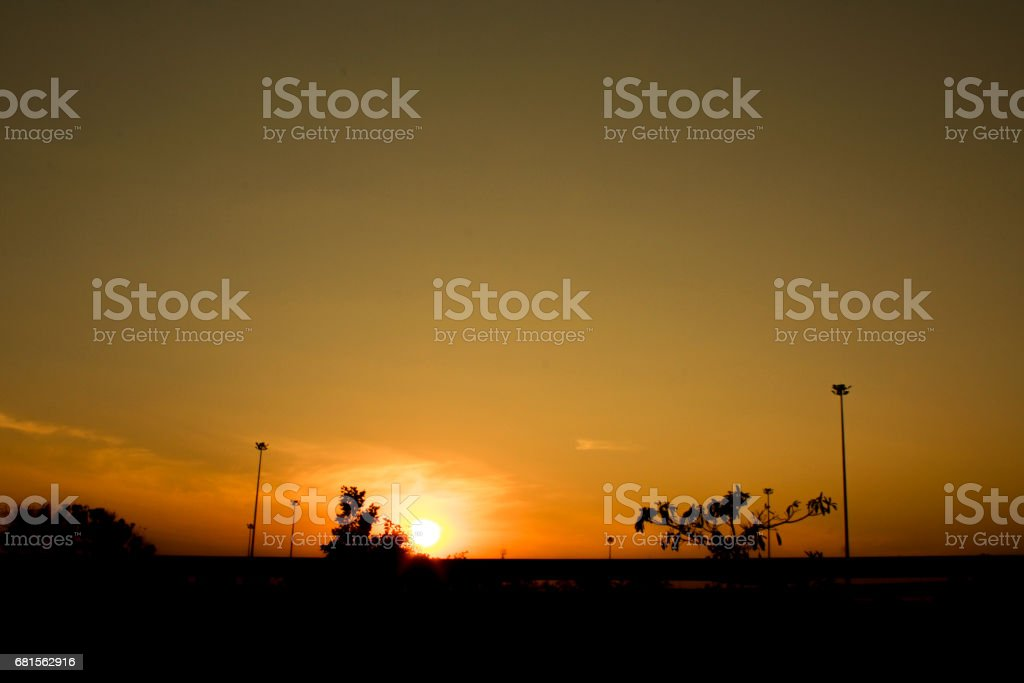 Sunset and architecture stock photo