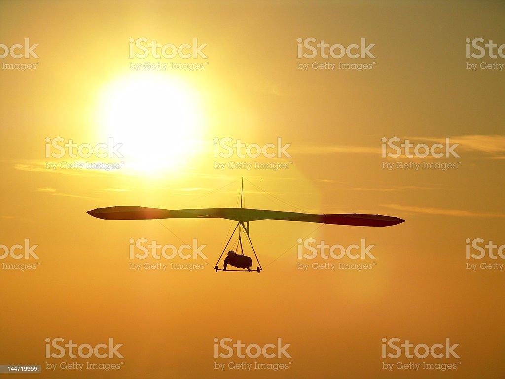 Sunset and freedom stock photo