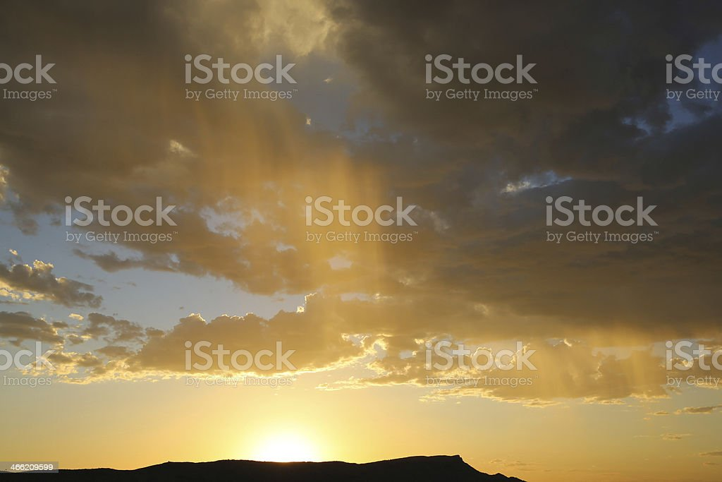 Sunset and Rain royalty-free stock photo