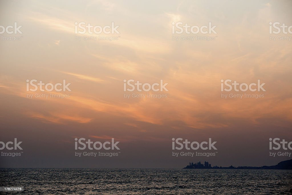 Sunset and sea royalty-free stock photo