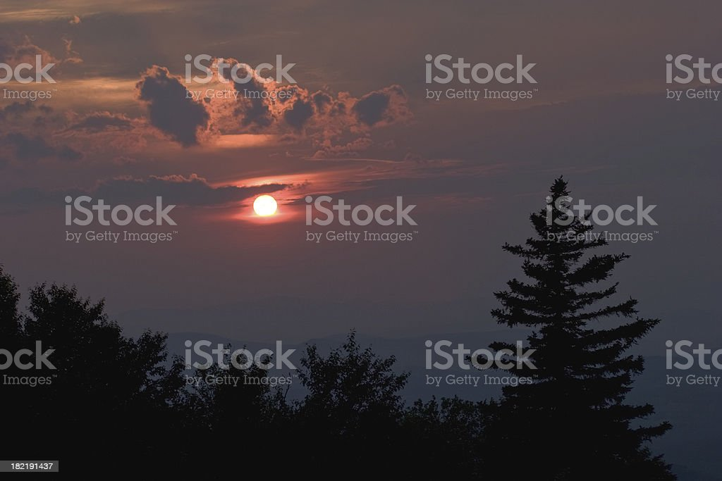 Sunset and Storm Clouds royalty-free stock photo