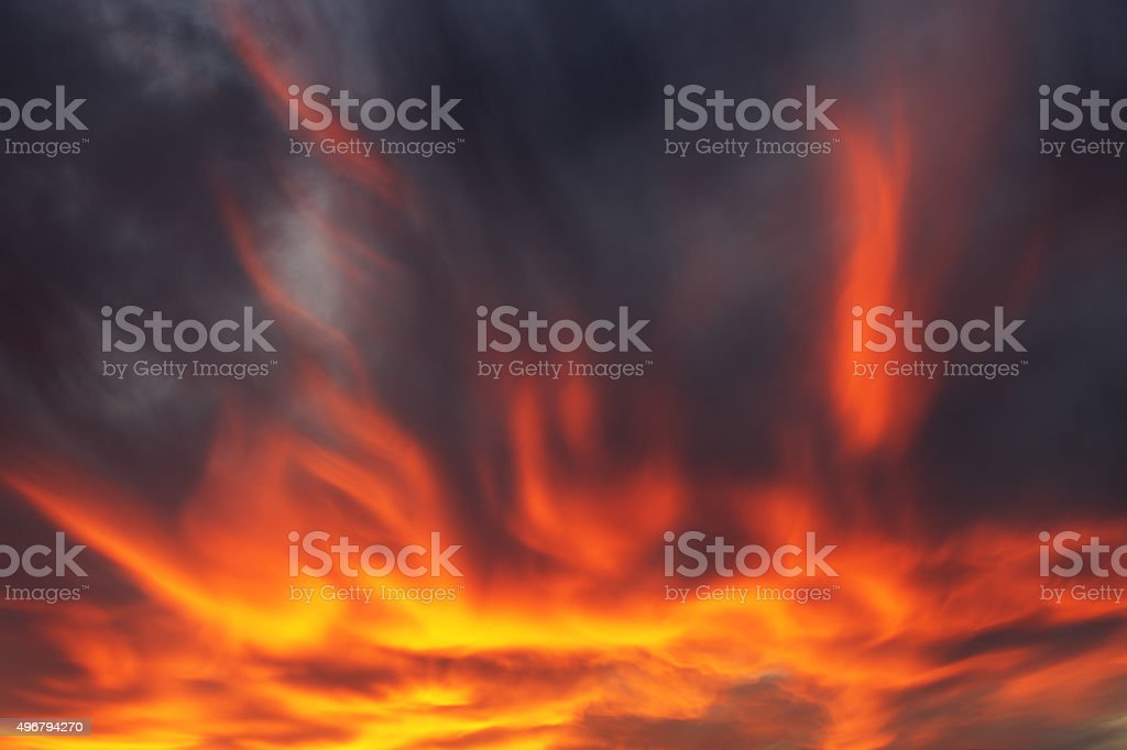 Sunset Arcus Nimbocumulus Stratocumulus Cloud Sky stock photo