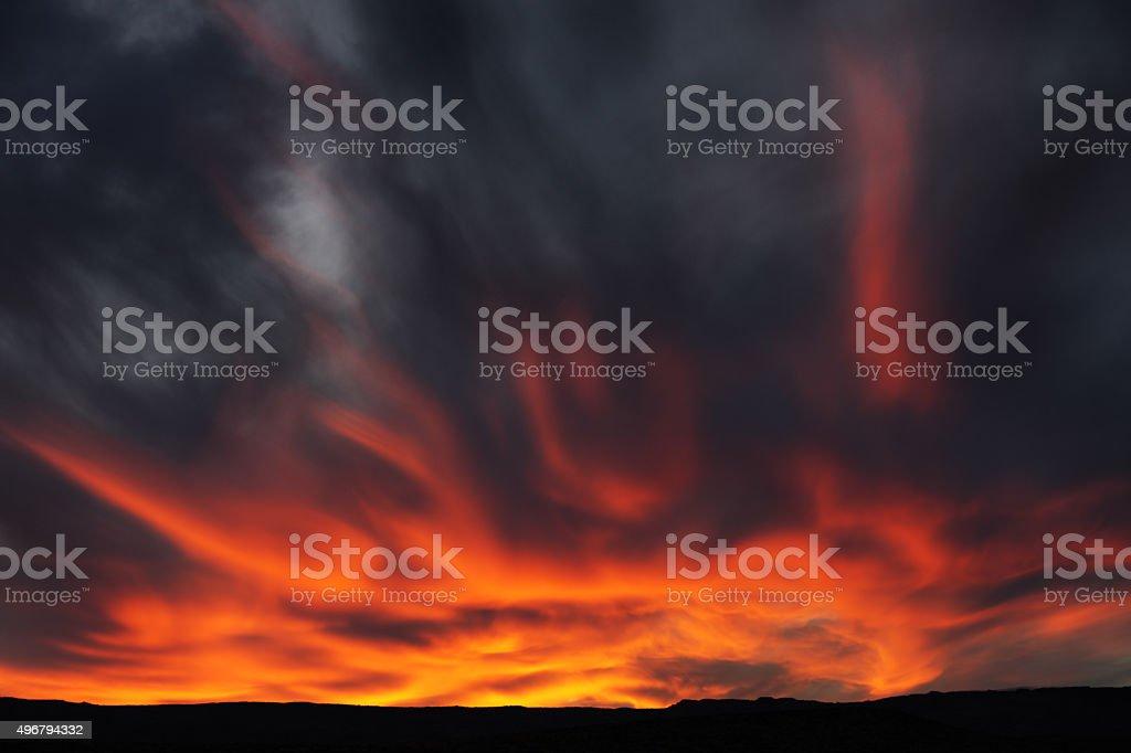 Sunset Arcus Nimbocumulus Stratocumulus Cloud Sky stock photo