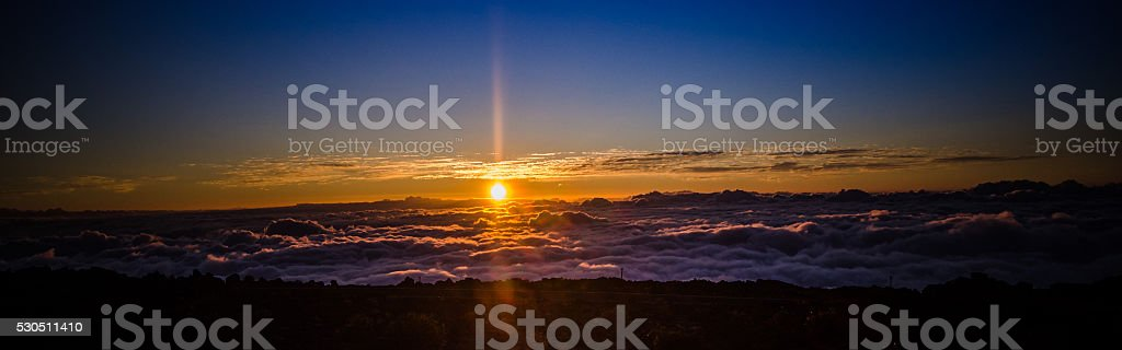 Sunset at 10,000 ft stock photo