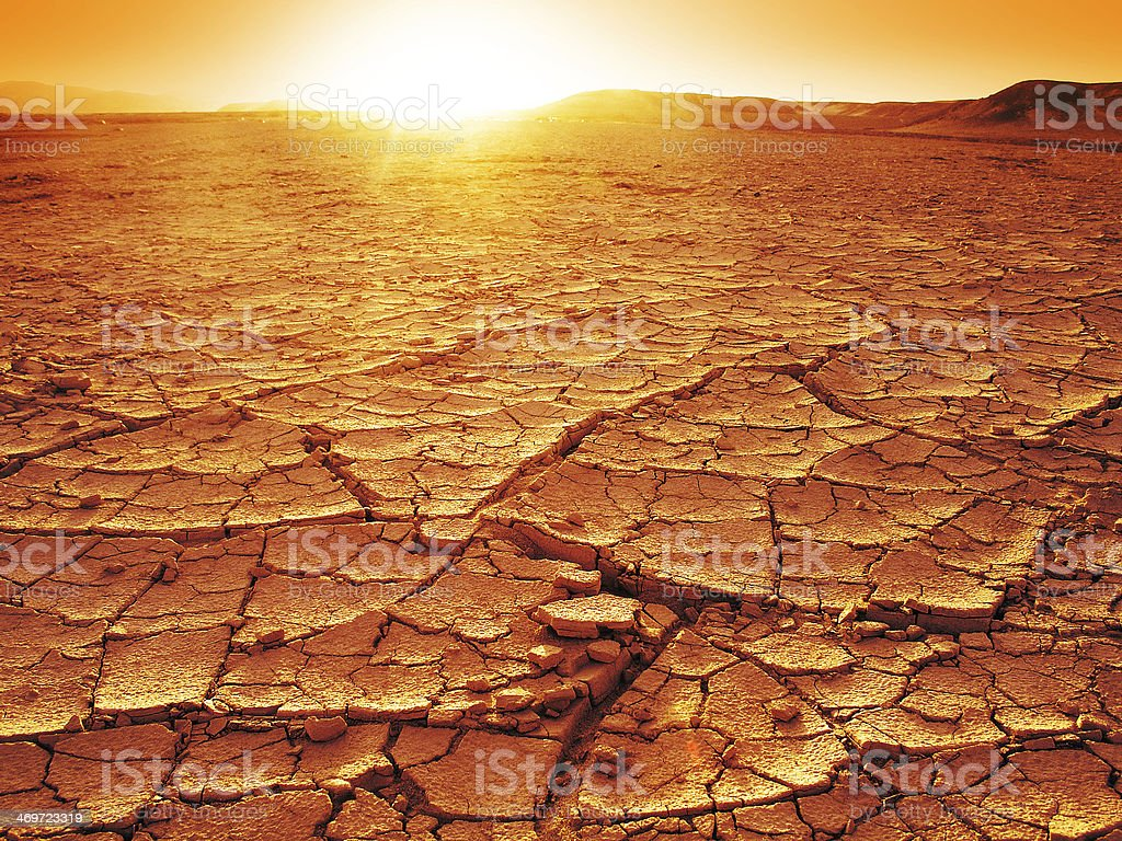 Sunset at a desert stock photo