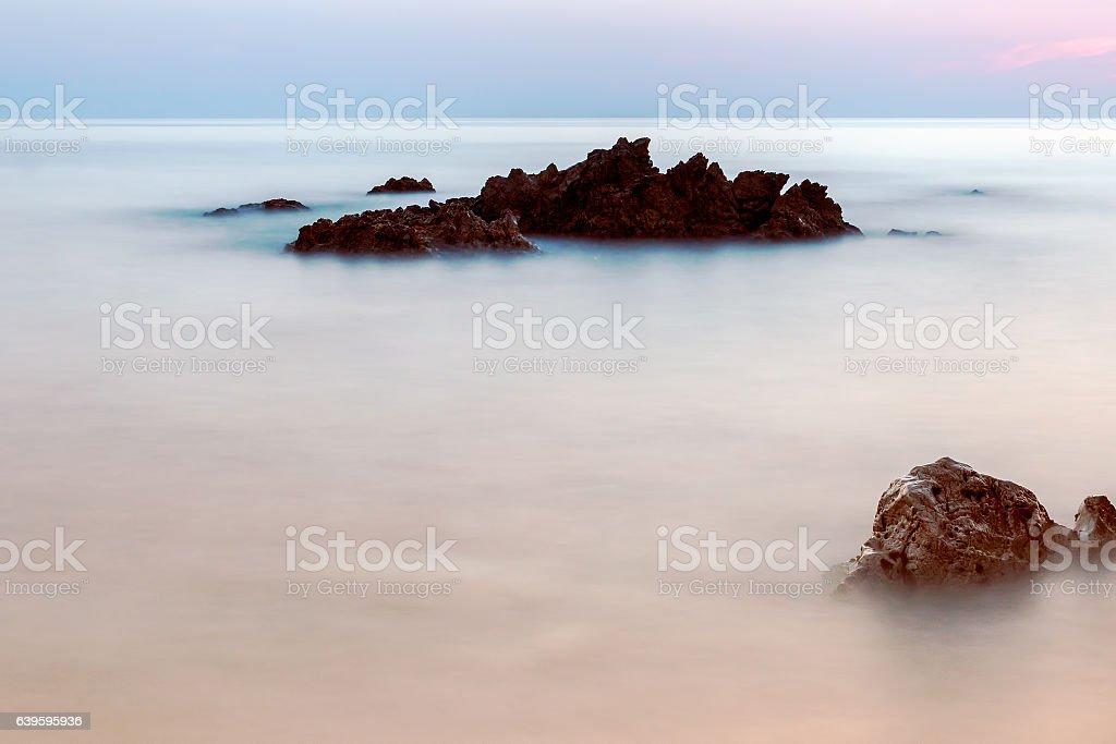 Sunset At Alanya stock photo