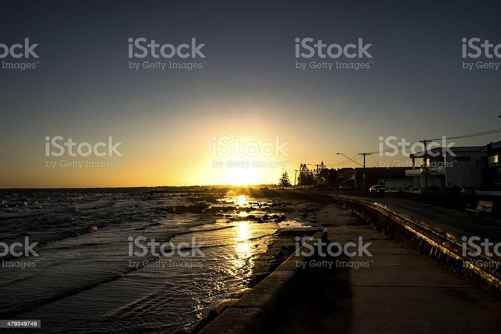 Sunset at Altona stock photo