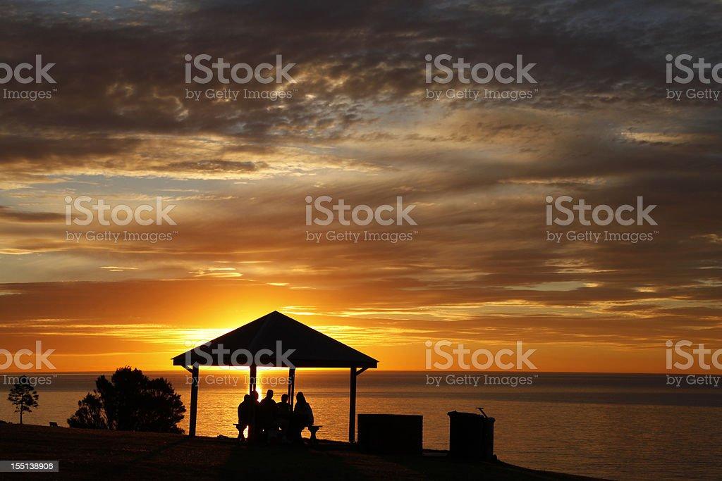 Sunset at Beach stock photo