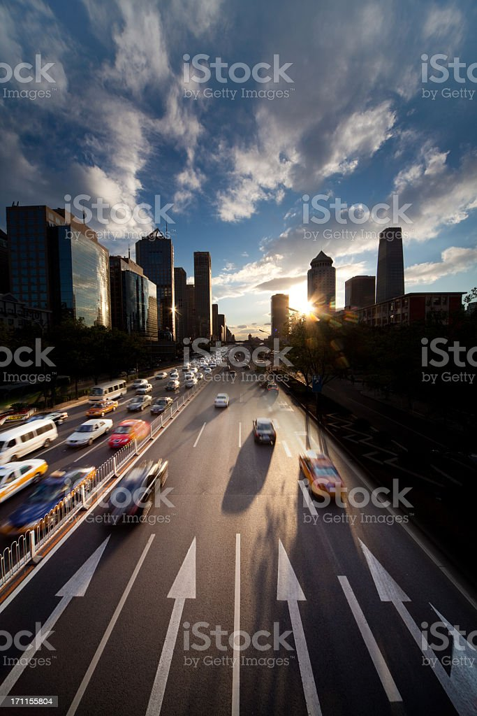 Sunset at Beijing royalty-free stock photo