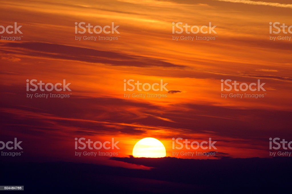 Sunset at Blaye (France) stock photo