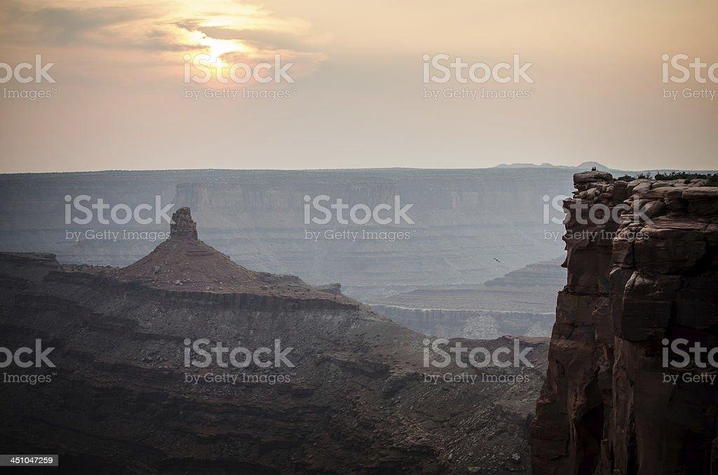 sunset at Canyonlands National Park Moab, Utah stock photo