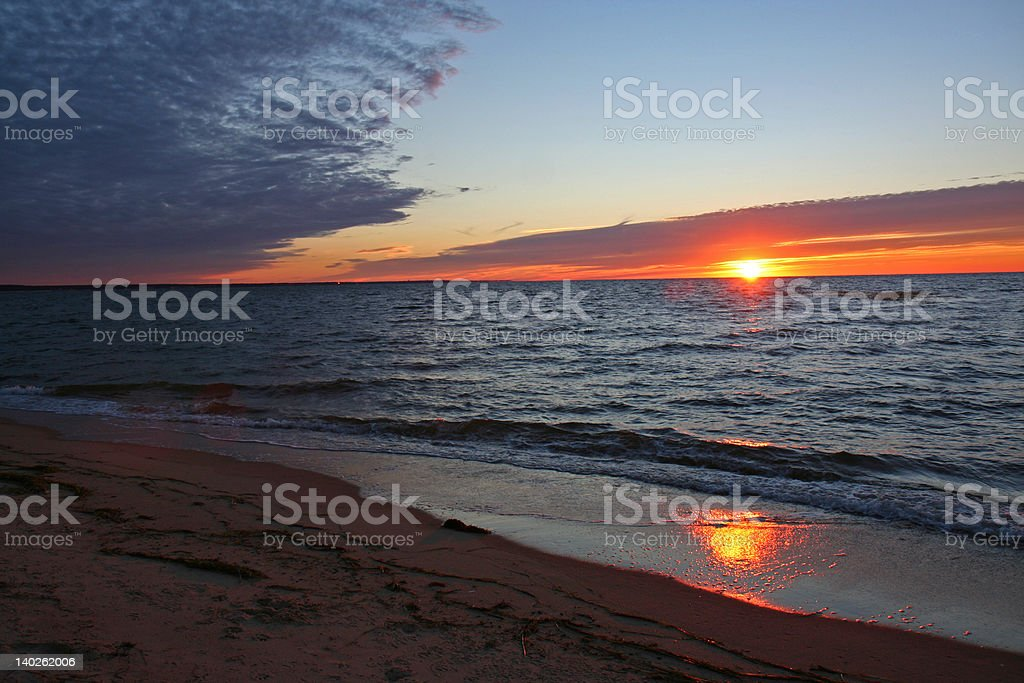 Sunset at Cape Cod royalty-free stock photo