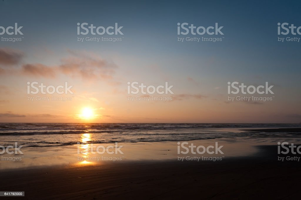 sunset at Cape Lookout stock photo