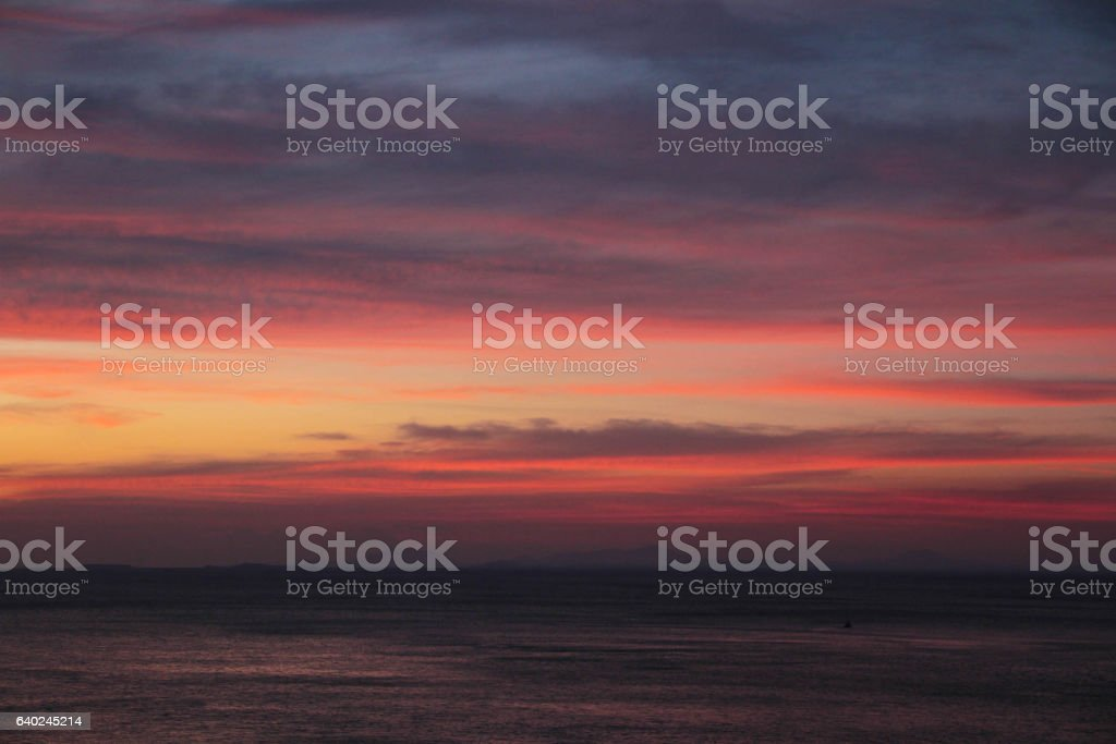 Sunset at Chanthaburi stock photo