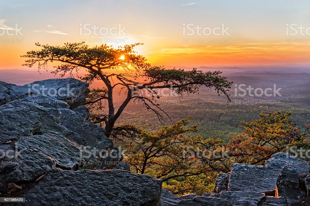 Sunset At Cheaha Overlook 1 stock photo