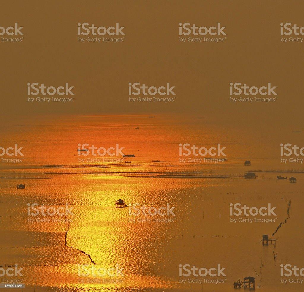 sunset at chonburi thailand royalty-free stock photo