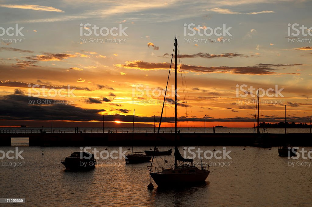 Sunset at Colonia del Sacramento,Uruguay royalty-free stock photo