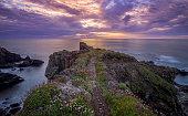 Sunset at Cornwall, England