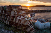 Sunset at Cow Head fishing harbour, Newfoundland