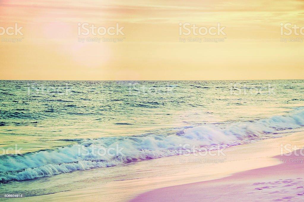 Sunset at Destin Beach Florida USA stock photo