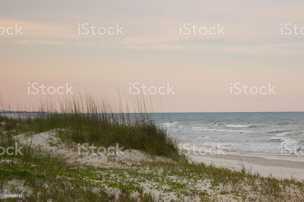 Sunset at Fernandina Beach stock photo