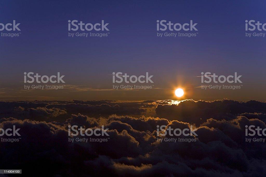 Sunset At Haleakala royalty-free stock photo