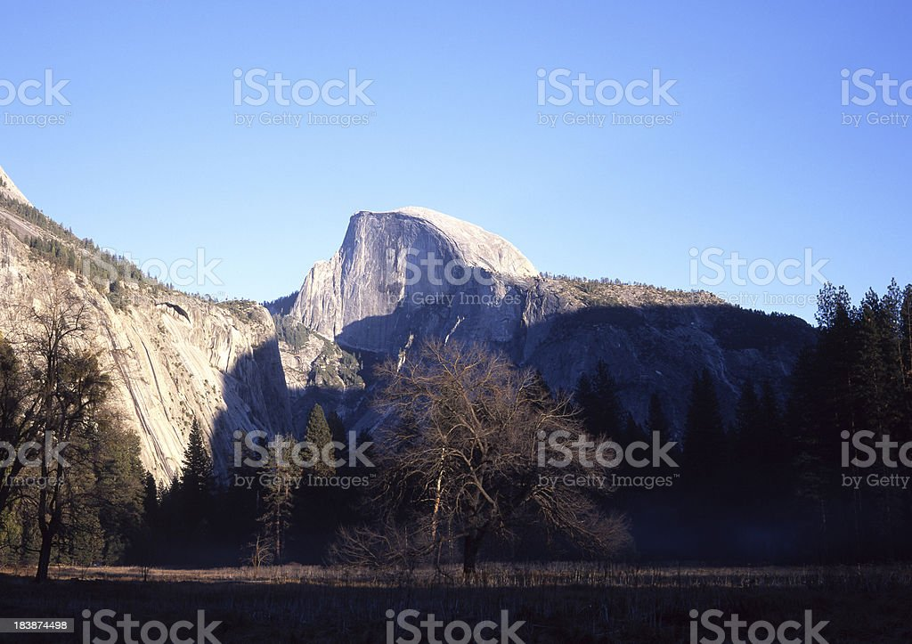 Sunset at Half Dome royalty-free stock photo