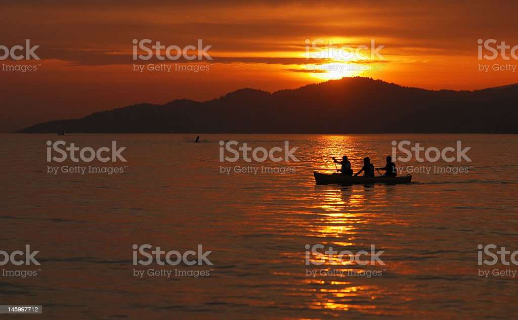 Sunset at Jericho beach, Vancouver royalty-free stock photo