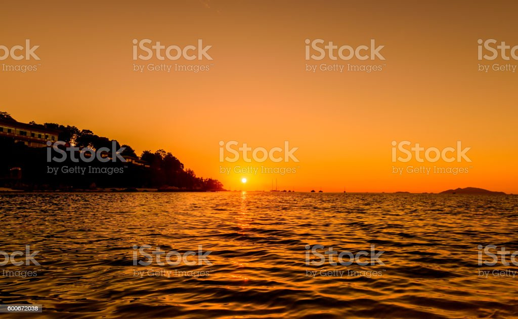 Sunset at Koh Lipe island, Thailand. stock photo