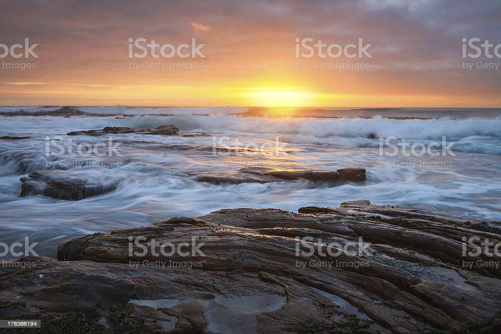 Sunset at Kommetjie stock photo