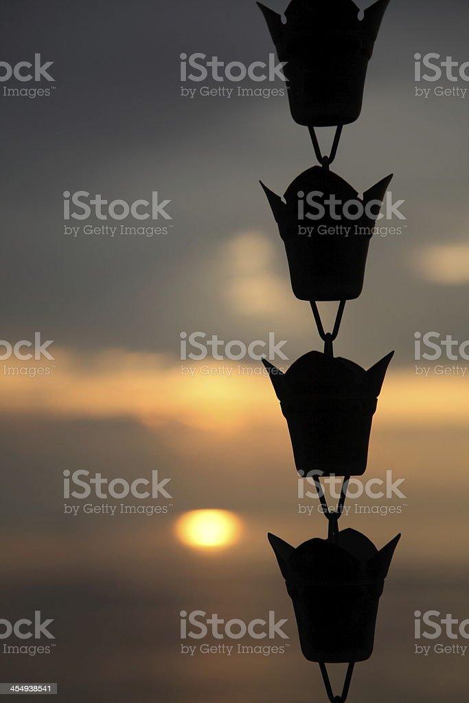 Sunset at Koyasan stock photo