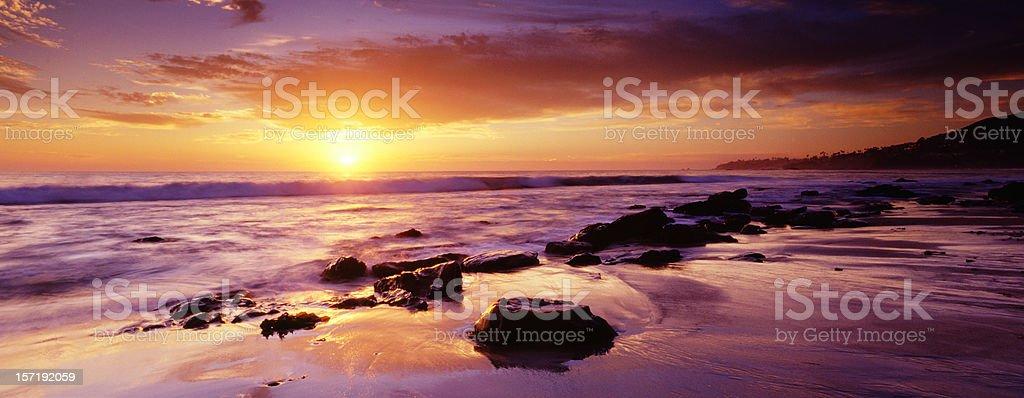 Sunset at Laguna Beach royalty-free stock photo