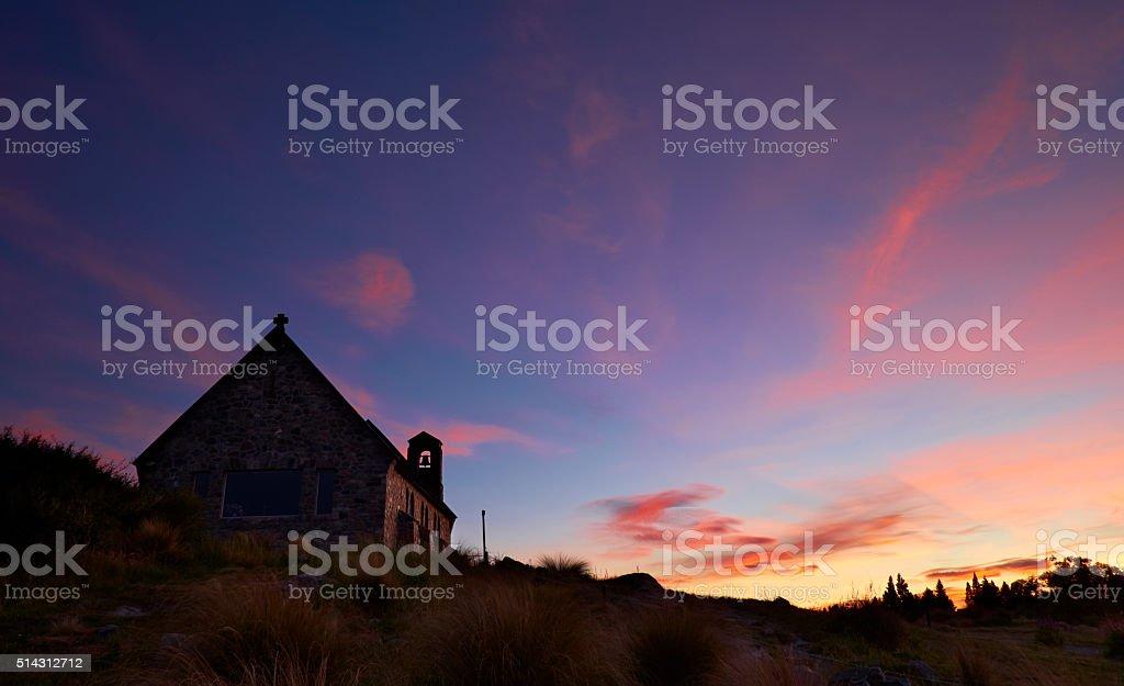 Sunset At Lake Tekapo stock photo