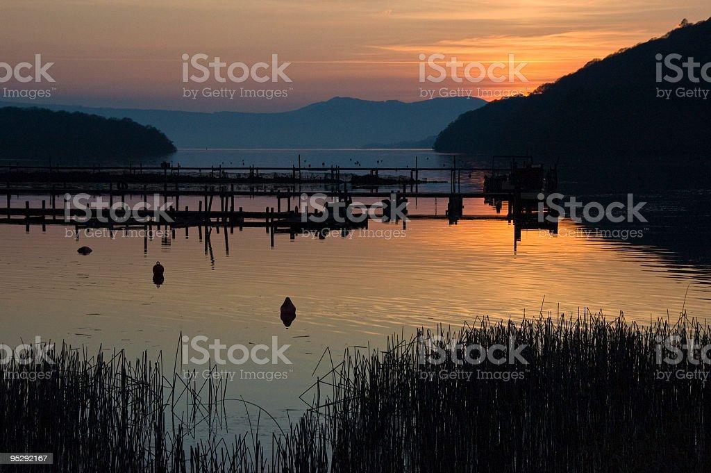 Sunset at Loch lomond royalty-free stock photo