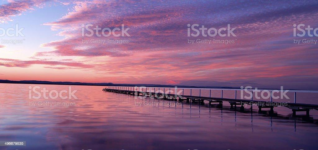 Sunset at Long Jetty royalty-free stock photo