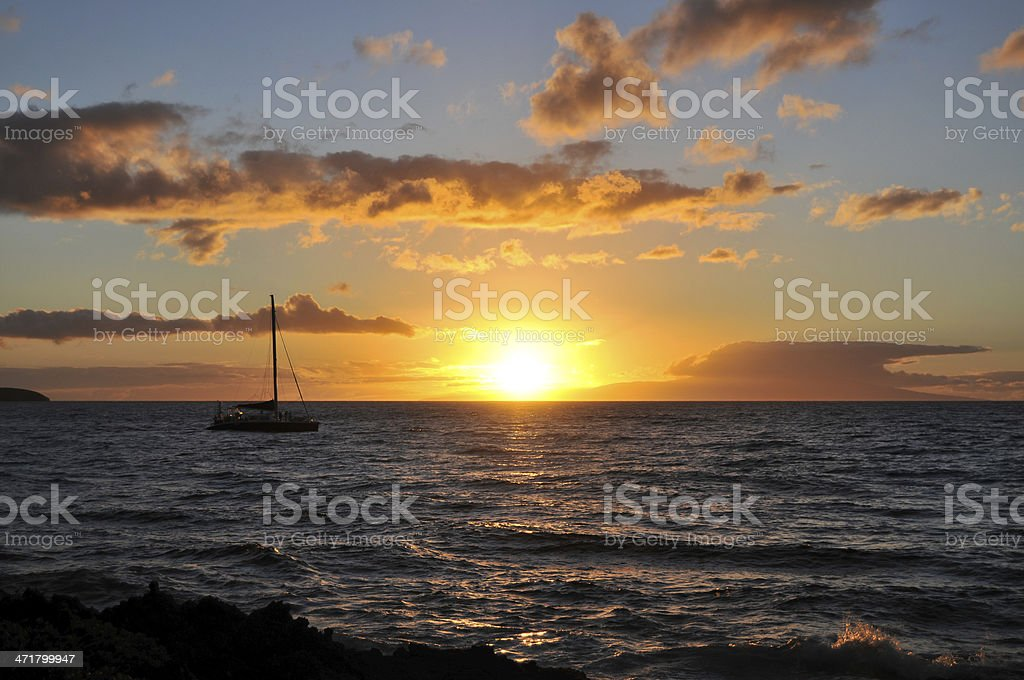 Sunset at Maui - Hawaii stock photo