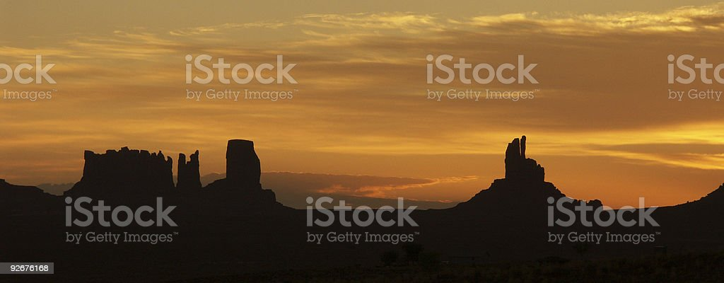 Sunset At Monument Valley royalty-free stock photo