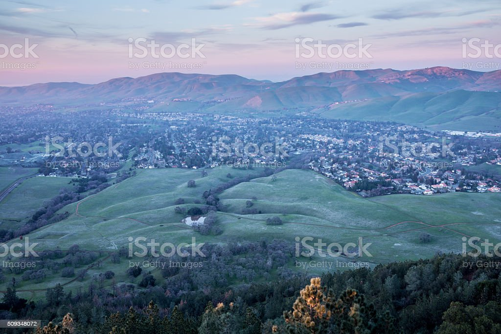 Sunset at Mt. Diablo State Park, Contra Costa County, California stock photo