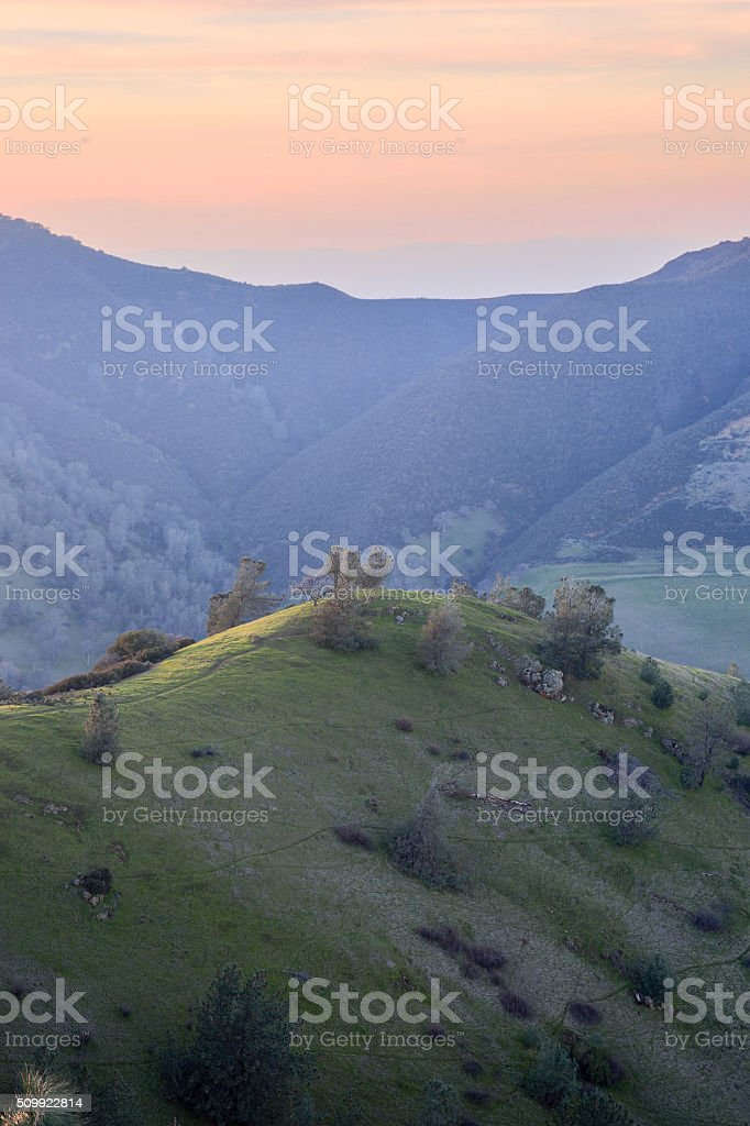 Sunset at Mt Diablo State Park, Contra Costa County, California stock photo