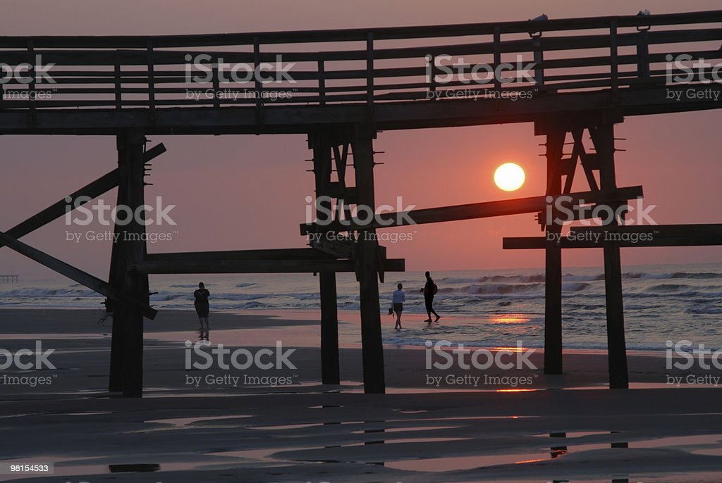 Sunset at Myrtle Beach royalty-free stock photo