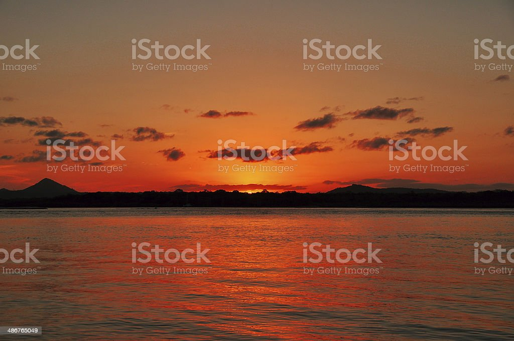 Sunset at Noosa royalty-free stock photo