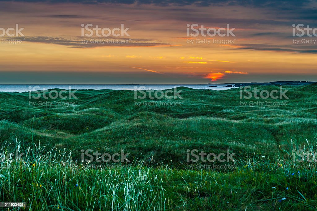 Sunset at Ogna. stock photo